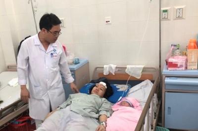bệnh viện sản- nhi tỉnh:  cứu kịp thời mẹ con sản phụ bị xe ô tô tông